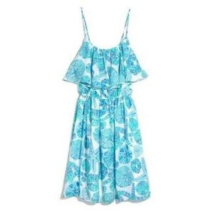 Lilly Pulitzer Sea Urchin For You Ruffle Top Satin